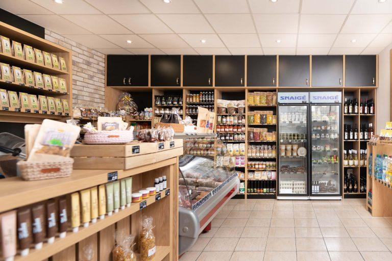 Predajňa slovenských regionálnych potravín v Ilave.
